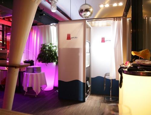 Fotoautomat auf einer Veranstaltung von 44events für VW in Hamburg